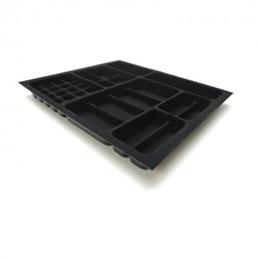 Porta Jóia Plástica/o Preto Aveludado 525X453 [ PJ-09 ] - Mold Plast