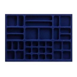 Porta Jóia Plástico Azul Aveludado 600X420 [ PJ-32 ]- Mold Plast