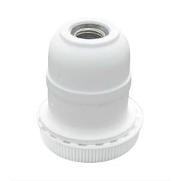Porta Lâmpada para Abajur com Tampa 100W Branco [ 1108BR ] - Perlex