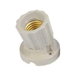 Porta Lâmpada Porcelana Curvo 4A para e-27 [ 8167 ] - G20