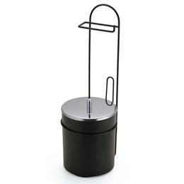 Porta Papel Higiênico Piso com Lixeira Preto  [ 2518 ] - Arthi