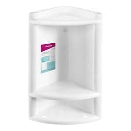 Porta Shampoo Canto Plástico Branca [ 1012-2 ] - Primafer