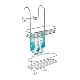 Porta Shampoo Duplo Para Box Cromado [ 1502 ] - Arthi