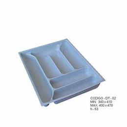 Porta Talheres Plástico 6 Div. 396X467X63mm [ DT-02 ] - Mold Plast