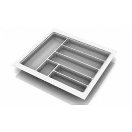 Porta Talheres Plástico 7 Div. 540X480X50mm Cinza Texturizado [ 0704-CZ TX ] - Cango