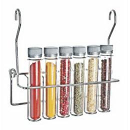 Porta Temperos 6 Tubos Plástico Cromado [ 4540 ] - Jomer
