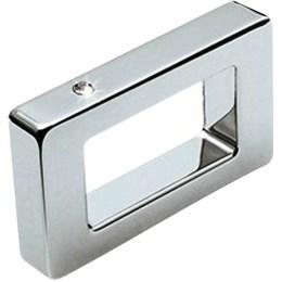 Puxador Alça Zamac 1181 Cromado/Strass 32mm [ H.1181/32 ] - Metalsinos