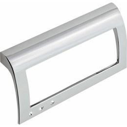 Puxador Alça Zamac 6001 Cromado/Strass 96mm [ H.6001/96 ] - Metalsinos