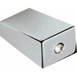Puxador Alumínio 4202 Cromo/Strass Ponto [ H.4202 PONTO ] - Metalsinos