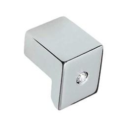 Puxador Alumínio 4302 Cromado/Strass Ponto - Metalsinos
