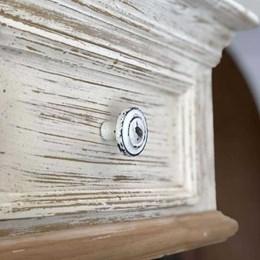 Puxador Botão Frizado Metal Branco [ 58619 ] - Venus Victrix
