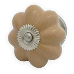 Puxador Cerâmica Bege Ponto [ 003083 ] - Venus Victrix