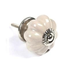 Puxador Cerâmica Branco Ponto [ 38341 ] - Venus Victrix