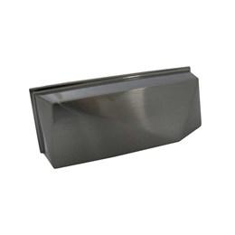 Puxador Concha Zamac 1607 Onix Escovado 64mm [ H1607/ONIX ESC ] - Metalsinos