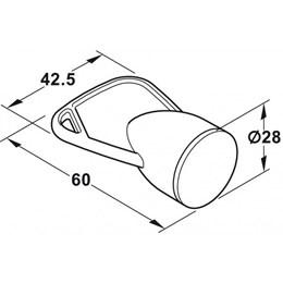 Puxador para Fechadura Magnética Safefix [ 245.41.798 ] - Hafele