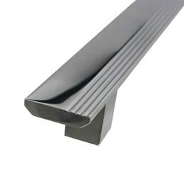 Puxador para Porta Duplo 160mm Turim Alumínio Cromado Hastvel
