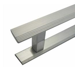 Puxador para Porta Duplo 160mm Turim Alumínio Escovado Hastvel