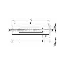 Puxador para Porta Duplo 300mm Big Thin Inox Escovado [ I450IE ] - Geris