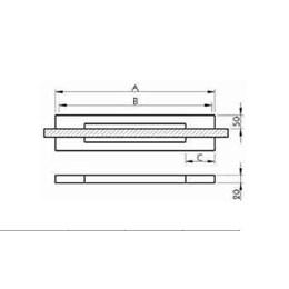 Puxador para Porta Duplo 400mm Big Thin Inox Polido [ I451IP ] - Geris