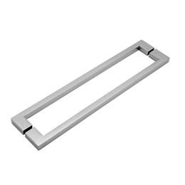 Puxador para Porta Duplo 400mm Soft Inox Polido [ A987IP ] - Geris