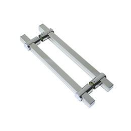 Puxador para Porta Duplo 500MM Verona Inox Polido [ I681IP ] - Geris
