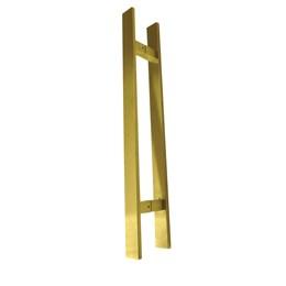 Puxador para Porta Duplo 600mm Inox Dourado [ 21117 ] - Italyline
