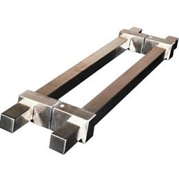 Puxador para Porta Duplo 800mm Verona Inox Polido [ A552IP ] - Geris