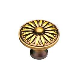 Puxador Ponto Colonial Dourado Antigo [ 106/PONTO ] - Italyline