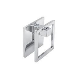 Puxador Zamac 1261 Escovado Adesivo P/Vidro Ponto Metalsinos