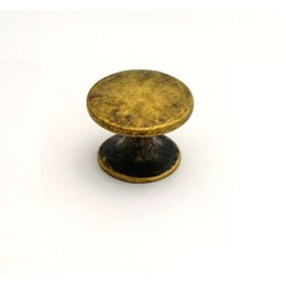 Puxador Zamac Margarida 27mm Ouro Velho [ 414 ] - Puxe Chic