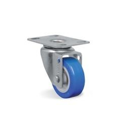 Rodízio Giratório Placa 2 Azul/Cinza Gl 210 Tp 40Kg [ GL210TP ] - Schioppa