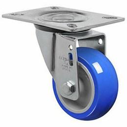 Rodízio Giratório Placa 3 Azul/Cinza Gl 312 Tp 70Kg [ GL312TP ] - Schioppa