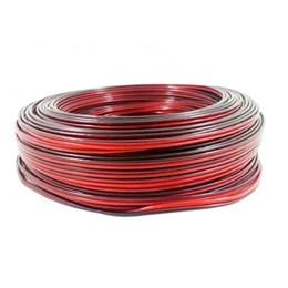 Rolo Fio Som Preto X Vermelho 2 X 2.50mm 100 Metros