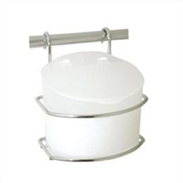 Saleiro Inox/Plástico Branco Classic [ 3021 ] - Jomer