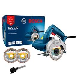 Serra Mármore a seco GDC 150 TITAN 1500W 220V, com 2 Discos - Bosch