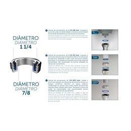 Sifão Sanfonado Universal Metalizado [ 031103-412 ] - Blukit