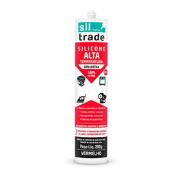 Silicone Acético Alta Temperatura Vermelho 280G Sil Trade