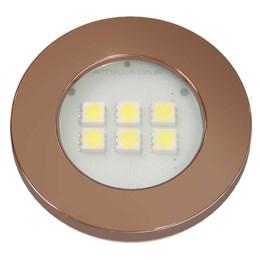 Spot Embutir 6 Leds Smd Cobre Redondo 6000K [ E515.CO ] - Artetílica