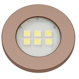 Spot Embutir 6 Leds Smd Red Gold Redondo 6000K [ E515.RG ] - Artetílica