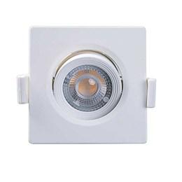 Spot Embutir Dicróica Branco com Lâmpada LED 3W 3000K Quadrado [ Alltop MR11 ] (Autovolt) - Taschibra