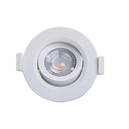 Spot Embutir Dicróica Branco com Lâmpada LED 3W 3000K Redondo [ Alltop MR11 ] (Autovolt) - Taschibra