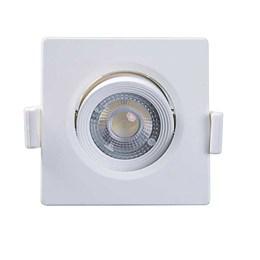Spot Embutir Dicróica Branco com Lâmpada LED 3W 6500K Quadrado [ Alltop MR11 ] (Autovolt) - Taschibra