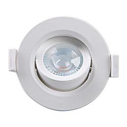 Spot Embutir Dicróica Branco com Lâmpada LED 5W 3000K Redondo [ Alltop MR16 ] (Autovolt) - Taschibra