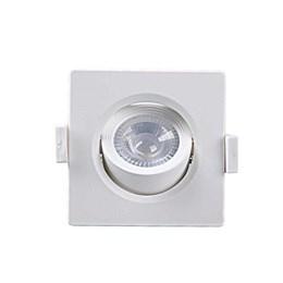Spot Embutir Dicróica Branco com Lâmpada LED 5W 6500K Quadrado [ Alltop MR16 ] (Autovolt) - Taschibra
