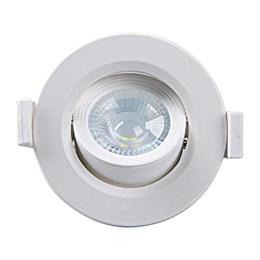 Spot Embutir Dicróica Branco com Lâmpada LED 5W 6500K Redondo [ Alltop MR16 ] (Autovolt) - Taschibra