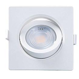 Spot Embutir Dicróica Branco com Lâmpada LED 7W 3000K Quadrado [ 15090195 ] (Autovolt) - Taschibra