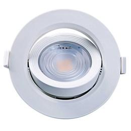 Spot Embutir Dicróica Branco com Lâmpada LED 7W 3000K Redondo [ 15090203 ] (Autovolt) - Taschibra