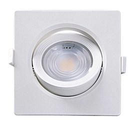 Spot Embutir Dicróica Branco com Lâmpada LED 7W 6500K Quadrado [ 15090196 ] (Autovolt) - Taschibra