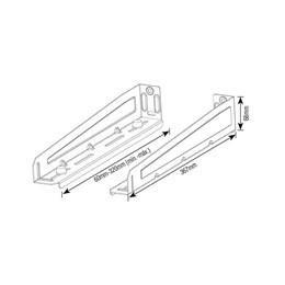 Suporte Forno Microondas Branco 36,7 a 68 cm [ SBR 5.0 ] - Brasforma