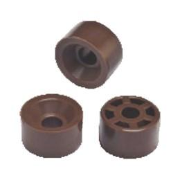 Suporte Prateleira  15 mm Marrom 100 Pc [ P 335 MARROM ] - Sas Plastic